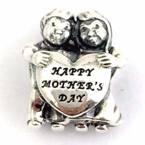PANDORA From Us Happy Mother's Day Charm, Sterling